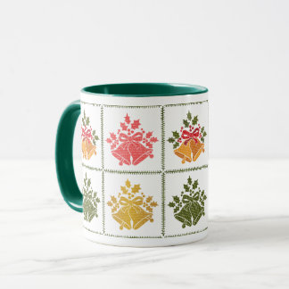 Jingle Bells and Holly for Winter Christmas Prayer Mug