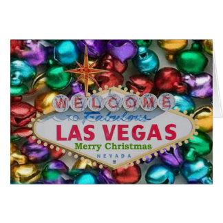Jingle Bells Las Vegas Merry Christmas Card