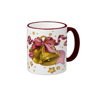 Jingle Bells mug (maroon)