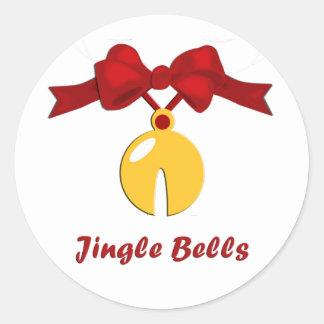 Jingle Bells Sleigh Bell Christmas Round Sticker