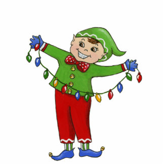 "Jingle Elves, ""Cheery"" 5X7 Ornament Photo Sculpture Decoration"
