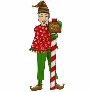 """Jingle Elves """"Horace"""" 5X7 3D Sculpture Standing Photo Sculpture"""