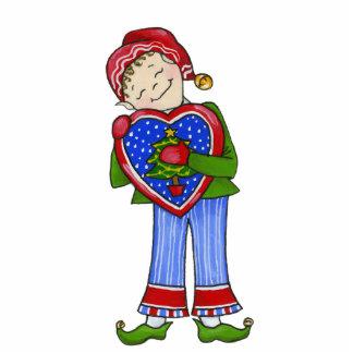 """Jingle Elves, """"LoveyDovey"""" 5X7 Ornament Photo Sculpture Decoration"""
