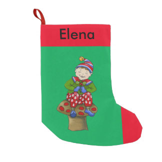 "Jingle Elves, ""Petey"" Christmas Stocking"