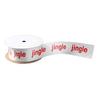 Jingle Jingle Jingle Red White Christmas Satin Ribbon