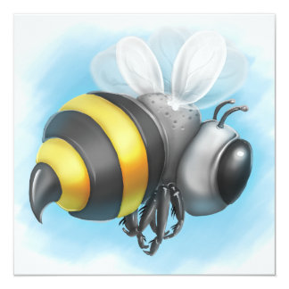 Jingle Jingle Little Gnome Bumble Bee Invitation