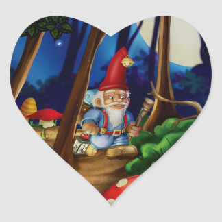 Jingle Jingle Little Gnome Heart Stickers