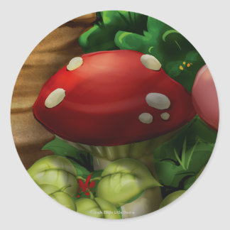 Jingle Jingle Little Gnome Mushroom Stickers