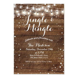Jingle & Mingle Christmas Party Invitation