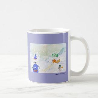 Jingles under snow basic white mug