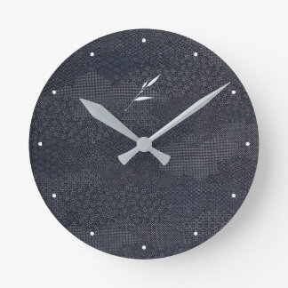 Jitaku Bamboo Indigo Dyed Clock