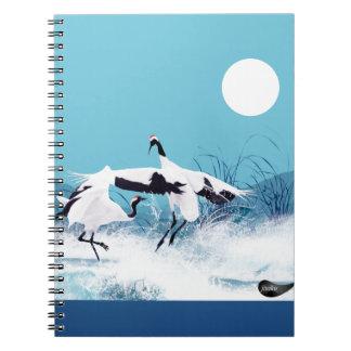Jitaku Crane Dance Green Notebook