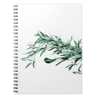 Jitaku Green Bamboo Leaves Notebook