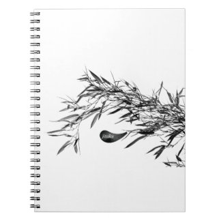 Jitaku Grey Bamboo Leaves Notebook
