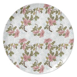 Jitaku Lotus Pattern Melamine Plate