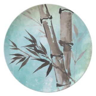 Jitaku Winter Bamboo Melamine Plate