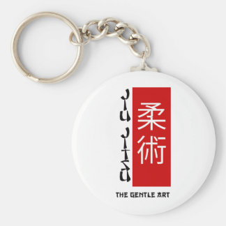 Jiu Jitsu - The Gentle Art Basic Round Button Key Ring