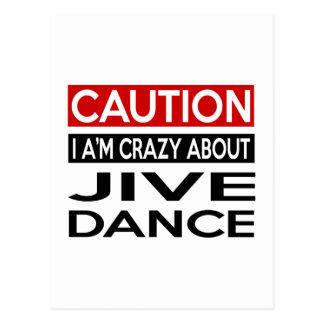 JIVE DANCE CRAZY DESIGNS POSTCARD