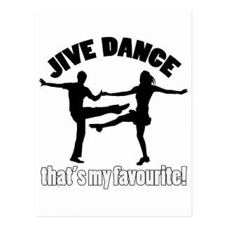 Jive dance designs postcard