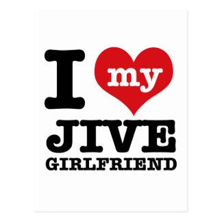 Jive dance Girlfriend designs Postcard