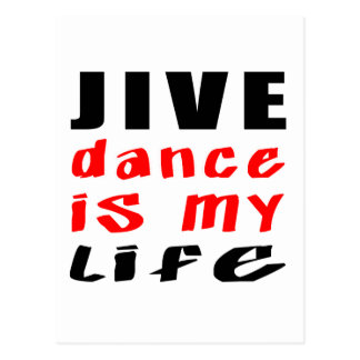 Jive Dance is my life Postcard