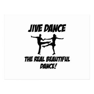 jive dance postcard