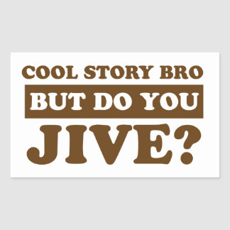 Jive dance rectangular sticker