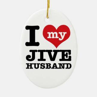 Jive husband ceramic oval decoration