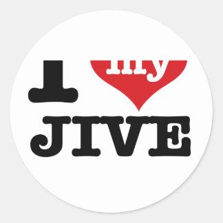 Jive husband round sticker