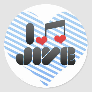 Jive Round Stickers