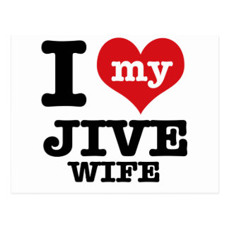 jive wife postcard