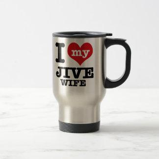 jive wife stainless steel travel mug