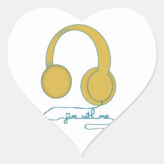 Jive With Me Heart Sticker
