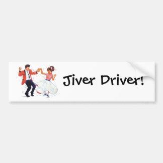 Jiver Driver Classic Rock and Roll Jive Dancing Bumper Stickers
