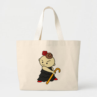 jiyanbototobasu child black large tote bag