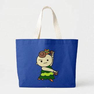 jiyanbototopari child green large tote bag