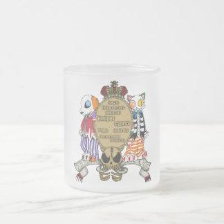 jiyunipa and cypress frosted glass mug