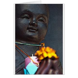 Jizo Buddha with Marigold Offering Card