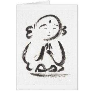 Jizo the Monk Blank Greeting Card