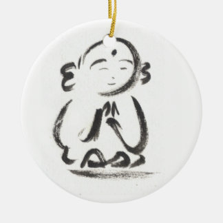 Jizo the Monk Ceramic Ornament