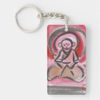Jizo the Monk Meditates Keychain