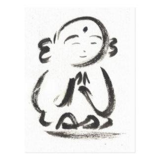 Jizo the Monk Postcard in White