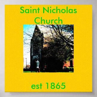 jkl, Saint Nicholas Church, est 1865 Poster