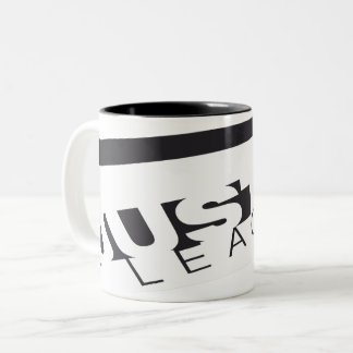 JL B/W Skewed Two-Tone Coffee Mug