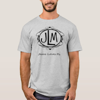 JLM Jesus Loves Me Christian Religious T Shirt