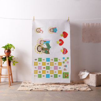 +JMJ+  Cute Saint Baby Quilt Squares and Dolls Fabric