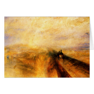 JMW Turner Rain Steam and Speed Greeting Card