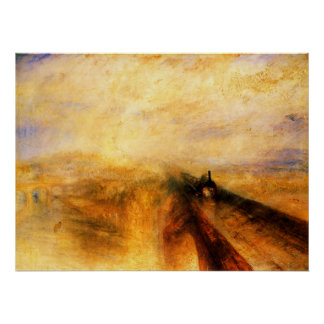 JMW Turner Rain Steam and Speed Poster
