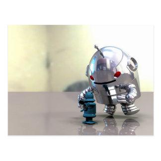 Jo Bot VS Little Blue Bot Postcard