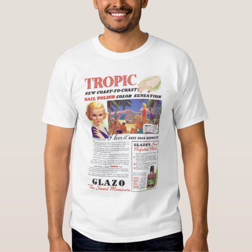 Joan Bennett Nail Polish Ad Tshirt